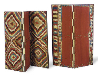 TWO SHIRVAN KILIM COVERED FLOO