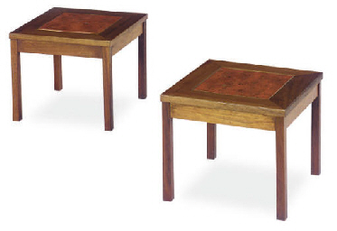 A PAIR OF WALNUT, PAINT AND GI