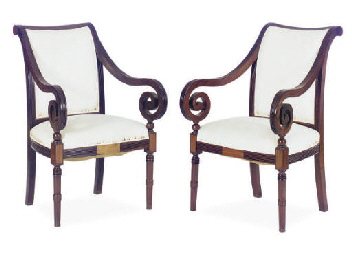A PAIR OF COLONIAL ROSEWOOD OP