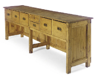 A PINE SIDEBOARD,