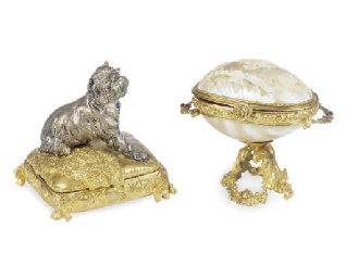 A FRENCH ORMOLU AND MOTHER-OF-