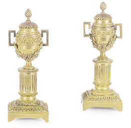 A PAIR OF FRENCH ORMOLU CASSOU