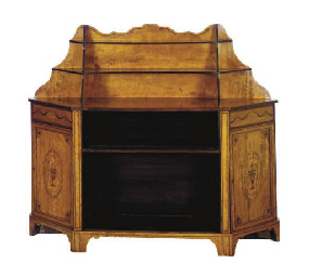 AN EDWARDIAN SATINWOOD AND MAR