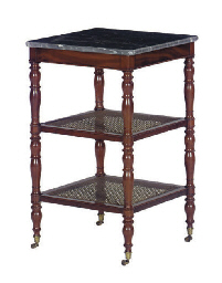 A FRENCH MAHOGANY AND CANED ET