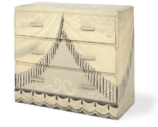 A TROMPE L'OEIL PAINTED CHEST-