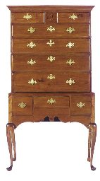 A QUEEN ANNE CHERRY HIGH CHEST