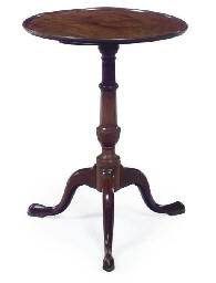 A CHIPPENDALE MAHOGANY DISH TO