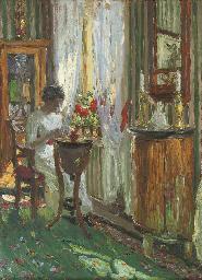 Frau mit einem Brief
