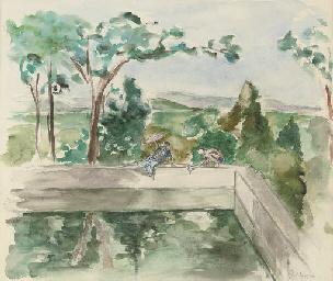Au bord du bassin