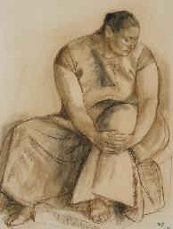 Juchiteca sentada (Esperanza)