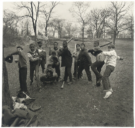 Baseball game in Central Park,