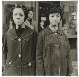 Two girls in curlers, N.Y.C. 1