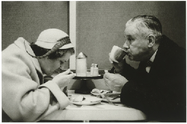Couple eating, N.Y.C. 1956