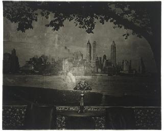 New York skyline in a lobby, S