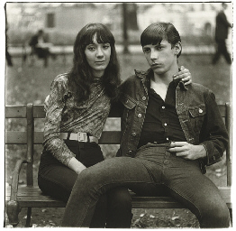 Young couple on a bench, N.Y.C