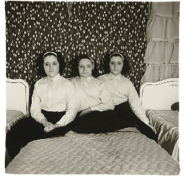 Triplets in their bedroom, N.J