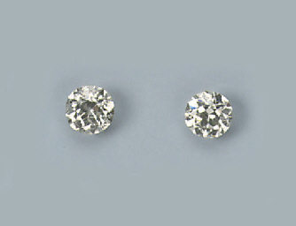 TWO OLD CUT DIAMONDS