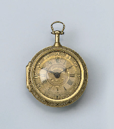 A FINE GOLD VERGE WATCH BY THO