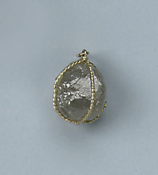 A ROUGH DIAMOND PENDANT