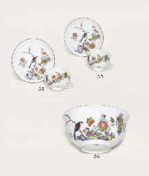 A PAIR OF MEISSEN KAKIEMON TEA