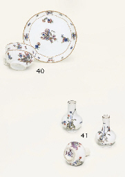 THREE MEISSEN MINIATURE BOTTLE