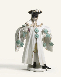 A MEISSEN FIGURE OF A MASQUERA