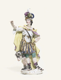 A MEISSEN FIGURE OF ALEXANDER