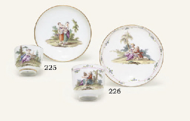 A GOTHA COFFEE-CUP AND SAUCER