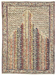 A SENNEH PRAYER KILIM