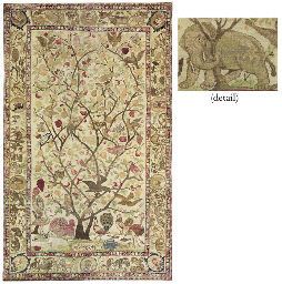 A PICTORIAL KIRMAN RUG