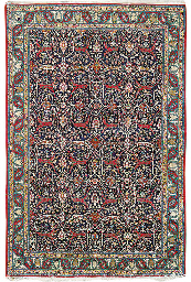 A PART-SILK QUM CARPET