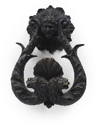 A BRONZE DOOR KNOCKER