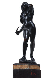 A BRONZE FIGURE OF LUCRETIA