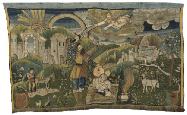 A GERMAN NEEDLEWORK PANEL
