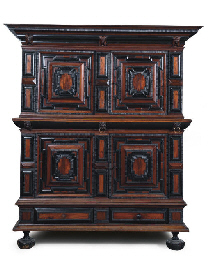 A FLEMISH ROSEWOOD, EBONY AND