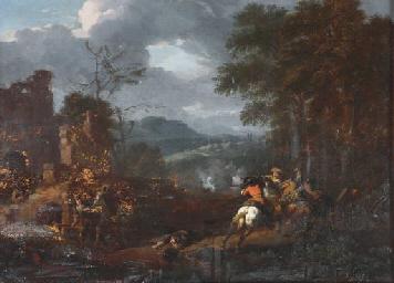 A cavalry skirmish in an exten