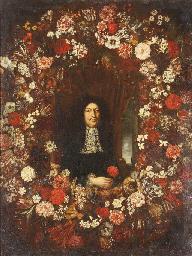 A portrait of a gentleman surr