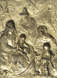 A GILT-BRONZE RELIEF OF THE HO