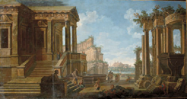 A capriccio view of an ancient