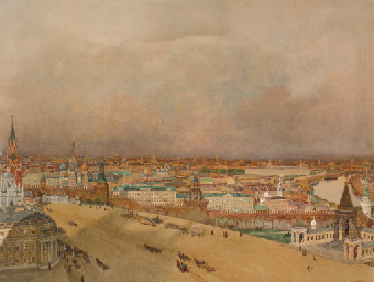 An extensive view on Moscow, w