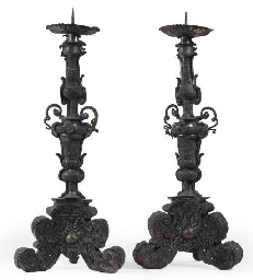 A PAIR OF AUSTRIAN SILVERED RE