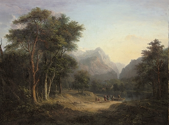 A mountainous wooded landscape