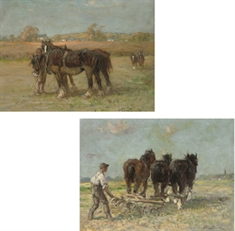 Ploughing the fields; and Shir