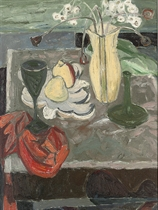 Still Life with a Red Cloth