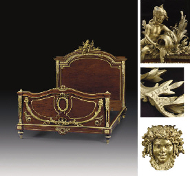 A FRENCH ORMOLU-MOUNTED PLUM-P