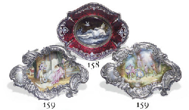 A PAIR OF FRENCH SILVER AND EN