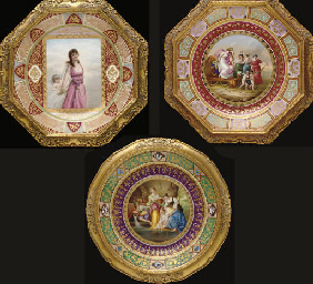 THREE VIENNA STYLE POLYCHROME-