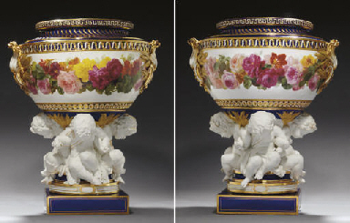 A PAIR OF MINTON EXHIBITION CO