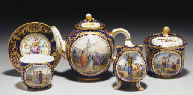 AN ASSEMBLED SEVRES (LATER-DEC