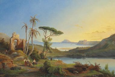 Vue du Cap Misène et du Lac d'